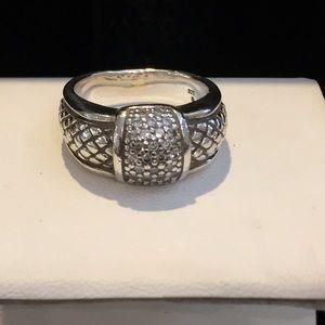 Scott Kay SS Diamond Cluster Equestrian Ring